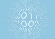Bleu binaire Photos libres de droits