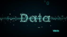 Bleu binaire de données de mots-clés illustration libre de droits