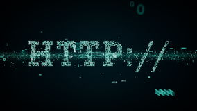 Bleu binaire de HTTP de mots-clés illustration libre de droits