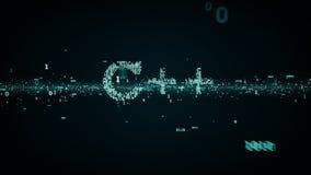 Bleu binaire des mots-clés C++ illustration stock
