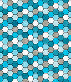 Bleu, blanc et Ti de conception de Gray Hexagon Mosaic Abstract Geometric Photos libres de droits