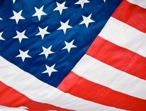 Bleu blanc rouge d'indicateur américain Photographie stock libre de droits