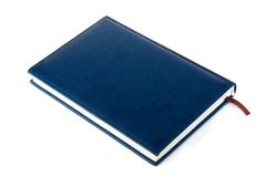 Bleu book in row. Isolated on white background Royalty Free Stock Photo