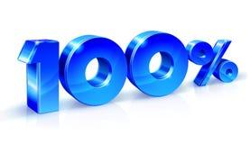 Bleu brillant 90 quatre-vingt-dix pour cent, vente D'isolement sur le fond blanc, objet 3D Photos stock