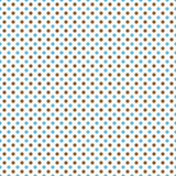 Bleu, Brown et polka blanche Dot Abstract Design Tile Pattern au sujet de Photographie stock libre de droits