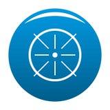 Bleu central d'icône illustration de vecteur
