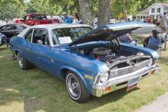 1971 bleu Chevy Nova Photographie stock libre de droits
