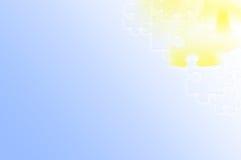 Bleu-clair abstrait - fond jaune de puzzle Images libres de droits