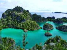 Bleu d'île Photographie stock libre de droits