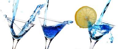 bleu d'alcool photographie stock