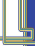 Bleu d'art déco illustration de vecteur