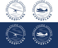 Bleu d'art d'hydroplane Images stock