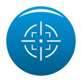 Bleu d'icône de but illustration de vecteur
