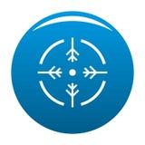 Bleu d'icône de cercle de pousse illustration stock