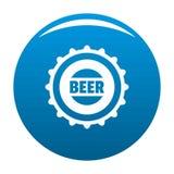 Bleu d'icône de chapeau de bière illustration de vecteur