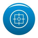 Bleu d'icône de cible illustration libre de droits