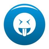 Bleu d'icône de sourire illustration de vecteur