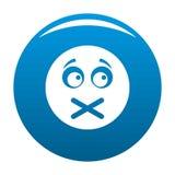 Bleu d'icône de sourire illustration stock