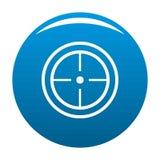 Bleu d'icône de but de sport illustration stock