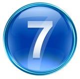 Bleu d'icône du numéro sept Image libre de droits