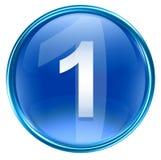 Bleu d'icône du numéro un Photos stock