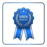Bleu 3 d'icône de récompense de ruban Image libre de droits