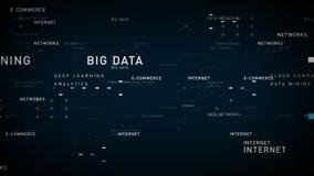 Bleu d'Internet de mots-clés illustration libre de droits