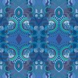 Bleu d'ornement Photographie stock libre de droits