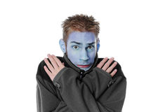 Bleu dans le visage Photo stock