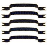 bleu de 5 drapeaux différent Photo libre de droits