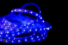 Bleu de bande de LED Photo stock