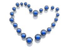 Bleu de bijou Photographie stock libre de droits