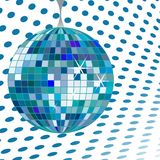 Bleu de bille de disco Illustration de Vecteur