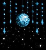 Bleu de bille de disco Photo libre de droits