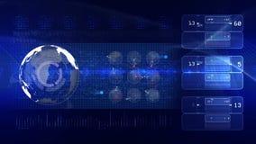 Bleu de BOUCLE de fond de technologie banque de vidéos