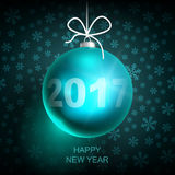 Bleu 2017-01 de boule de Noël Photo stock