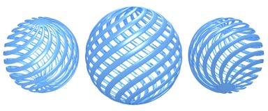 Bleu de boule de torsion illustration stock