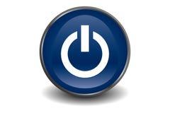 Bleu de bouton de pouvoir Photos libres de droits