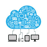 Bleu de calcul de concept de nuage Photos libres de droits