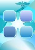Bleu de calibre de présentation de brochure de page de médecine Photos stock