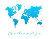 Bleu de carte du monde Image stock