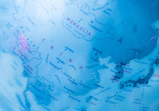 Bleu de carte du monde   technologie de la science illustration de vecteur