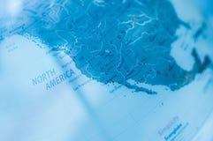 Bleu de carte du monde   technologie de la science image libre de droits