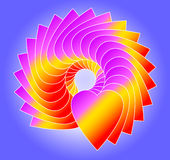 Bleu de cercle de coeur Photo libre de droits