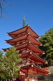Bleu de ciel rouge nerveux photographie stock libre de droits
