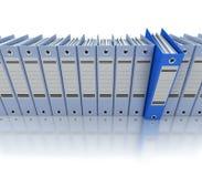 Bleu de classement et de organisation de l'information Photo stock