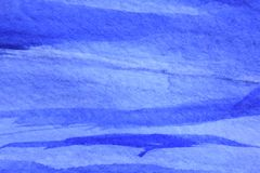 Bleu de cobalt Hue Watercolor Background 10 Photo stock