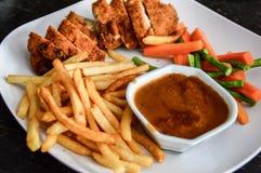 Bleu de cordon de poulet Photographie stock libre de droits
