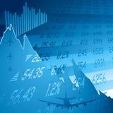 Bleu de crash financier Photo stock
