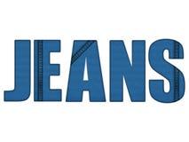 Bleu de denim de lettres de jeans Image libre de droits